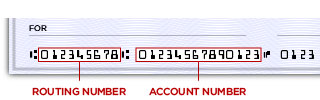 bank routing number location on check